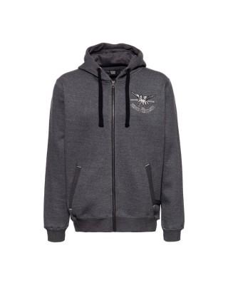 King Kerosin Pegasus zip hoodie steel grey