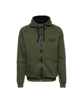 King Kerosin Zombie Garage zip hoodie olive