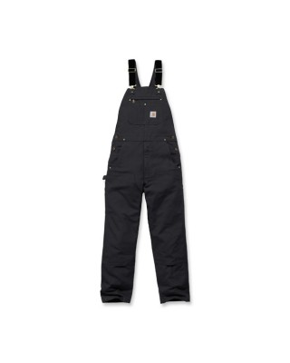 Carhartt Relaxed Fit duck bib overall black