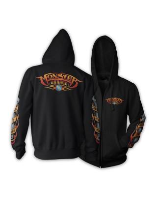 Monster Garage Basic logo zip hoodie black