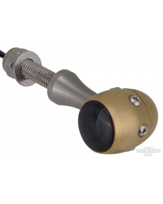 Clignotants LED, Retro 3en1, Brass Mat, Hells Kitchen Choppers
