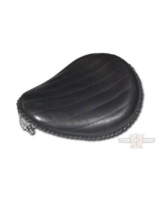 """Selle Solo 13"""" Black Leather , La Rosa Design"""
