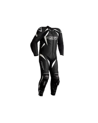 Combinaison RST Tractech EVO 4 CE cuir noir bandes blanches homme, RST