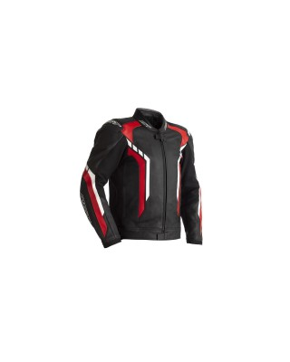 Blouson RST Axis CE cuir rouge homme, RST
