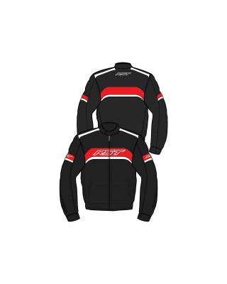 Blouson RST Pilot CE textile noir/rouge homme, RST