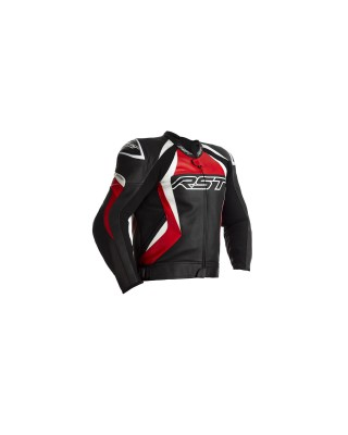 Blouson RST Tractech EVO 4 CE cuir rouge homme, RST