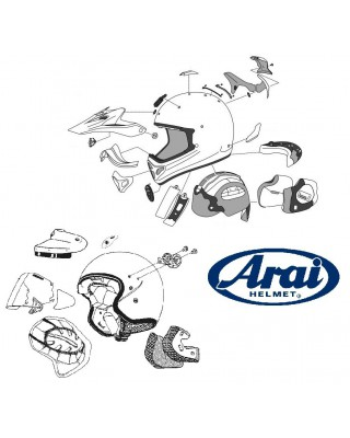 Mousse intérieure Arai (L) 10 MM casque jet type lrs, ARAI