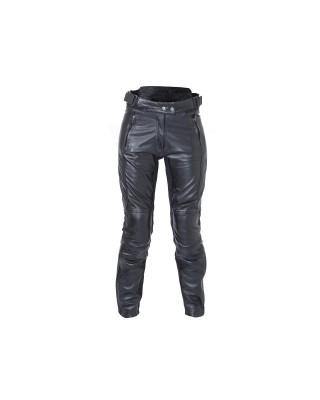 Pantalon RST Ladies Kate cuir noir femme, RST