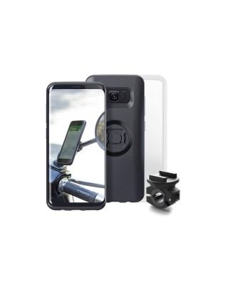 Pack complet SP-CONNECT Moto Bundle fixé sur rétroviseur Samsung S8, SP CONNECT