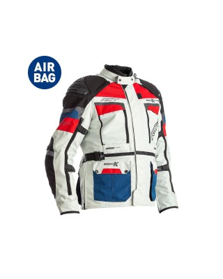 Veste RST Adventure-X Airbag CE textile Ice/Blue/Red homme, RST