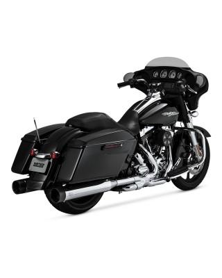 Silencieux Oversized 450, Chrome/Black, Touring 17+, VANCE & HINES