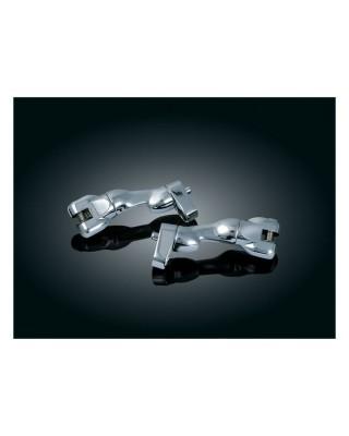 Support de repose-pieds passager ajustable, Chrome, 93-19 Touring / 09-19 Trikes, KURYAKYN