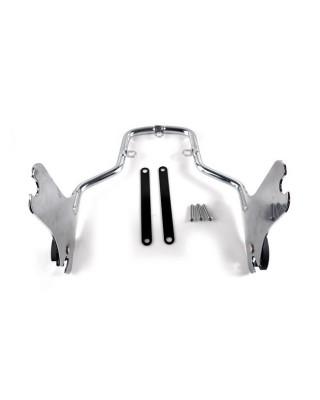 Plaques latérale de sissy bar détachable, Chrome, 08-20 Touring, MCS