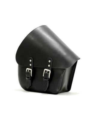 Sacoche de bras oscillant, côté gauche, cuir noir, 18-20 Softail, LONGRIDE
