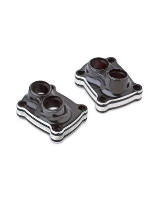 Cache embase de tiges de culbuteurs 10-GAUGE Black, 18-20 Softail / 17-20 Touring, ARLEN NESS