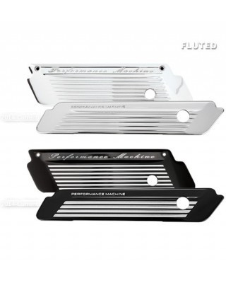 Caches serrures de sacoches FLUTED, Chrome, Touring 14-20, PERFORMANCE MACHINE