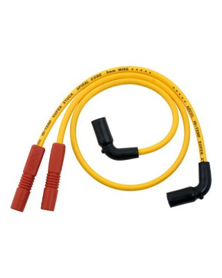 Fils de bougies 8MM S/S WIRE TOURING Yellow, 09-16 Touring, ACCEL