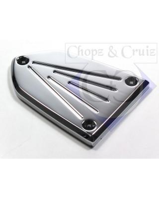 Couvercle de maître cylindre Victory, FLUTED CHROME - Chopz&Cruiz