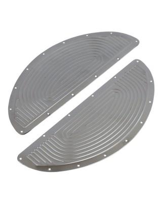 paughco - Inserts de marche-pieds conducteur Oval - Chrome - PAUGHCO