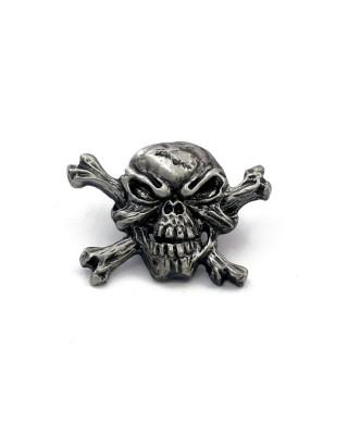 mcs - Pins Bad Bones - Crossbones Skull - MCS