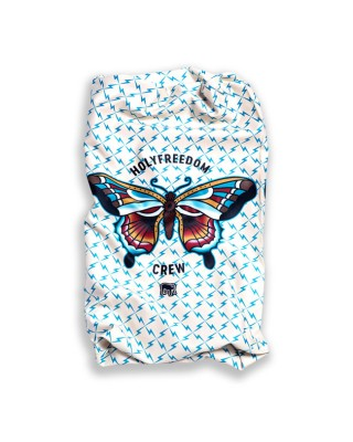 holy freedom - Tour de cou Stretch Butterfly - Blanc & bleu - HOLY FREEDOM