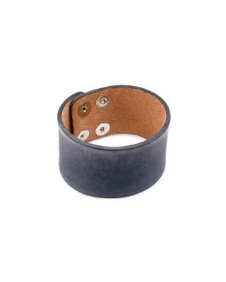 Amigaz Wide Grey Distressed Leather Strap