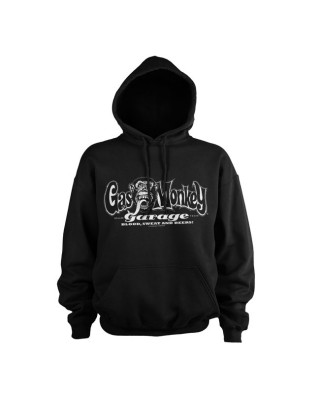 GMG White logo hoodie